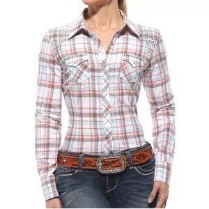 "ARIAT WOMENS ""LINDSAY"" Fitted Western Shirt Sz. XL"